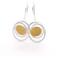 Ohrhänger Silber mit Feingold