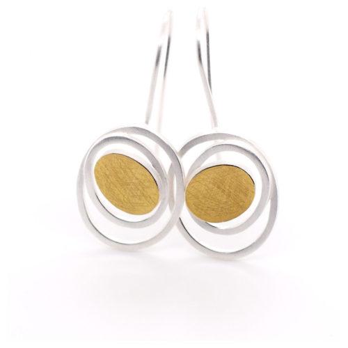 Ohrhänger Silber mit Au 900 Feingold
