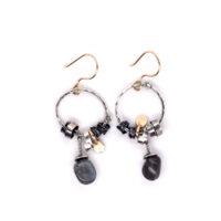 Ohrhänger Silber oxidiert vergoldet