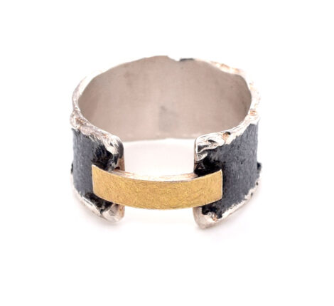 Ring oxidiert mit Feingold