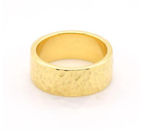 Ring Silber vergoldet, gehämmert