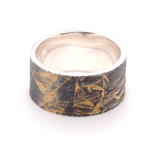 Ring vergoldet und oxidiert