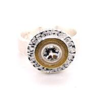 Ring Silber Feingold weißer Topas