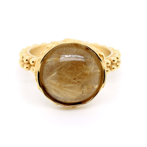 Ring vergoldet mit Rutilquarz