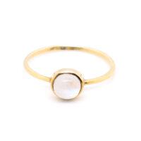 Ring vergoldet Mondstein