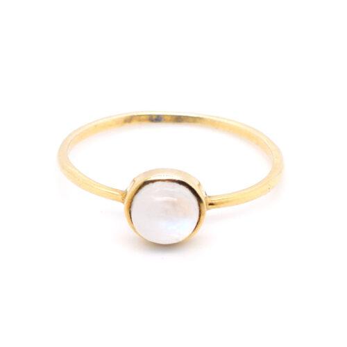 Ring vergoldet mit Mondstein