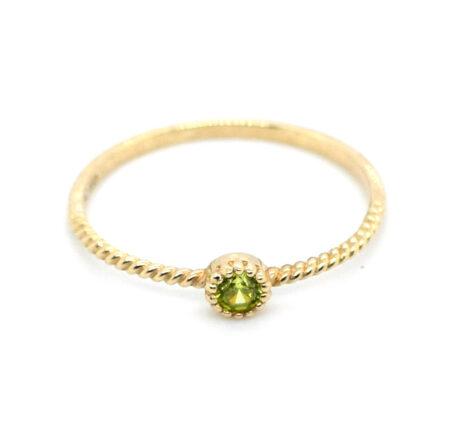 Ring Gelbgold mit Peridot