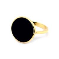 Ring vergoldet Onyx