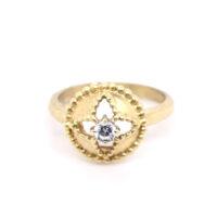 Ring vergoldet mit Zirkonia