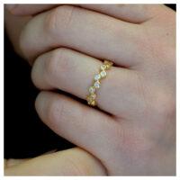 Ring vergoldet Zirkonia