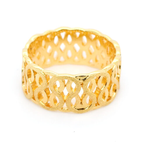 Ring vergoldet Ranken