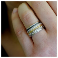BLICKWINKEL Karlstadt Ring Silber, oxidiert, Walzgold