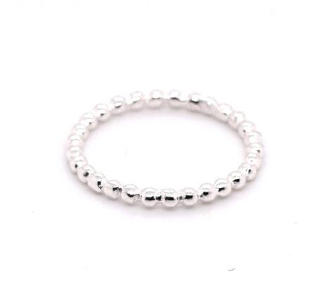 Ring Silber Kügelchen