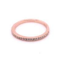Ring rosévergoldet Zirkonia