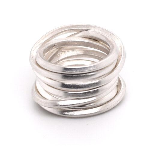 Gewickelter Silberring